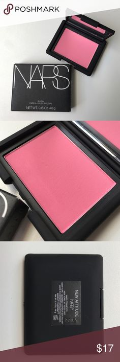 NEW ATTITUDE blush by NARS Limited Edition. Brand-new in the original box this powder blush by NARS is in the hue New Attitude. A warm pink with a matte finish, New Attitude retails for $30. NARS Makeup Blush