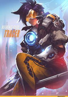 Overwatch art,Overwatch,Blizzard,Blizzard Entertainment,фэндомы,Tracer,Genji (Overwatch),Junkrat,Gao ZhiPing