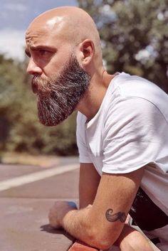 - Beard Tips Bald Men With Beards, Bald With Beard, Great Beards, Awesome Beards, Beard Game, Epic Beard, Beard Styles For Men, Hair And Beard Styles, Viking Beard Styles