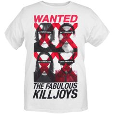 My Chemical Romance Wanted The Fabulous Killjoys Slim-Fit T-Shirt |... ($13) ❤ liked on Polyvore featuring tops, t-shirts, shirts, my chemical romance, band tees, slim white shirt, slim t shirts, t shirts, slim fit tees and slim shirt