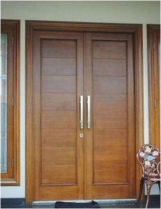 Stop by our website page for even more regarding this awesome double front doors. Stop by our website page for even more regarding this awesome double front doors Wooden Front Door Design, Main Entrance Door Design, Double Door Design, Modern Entrance Door, Front Door Entrance, Entrance Ideas, Modern Door, Front Doors With Windows, Wood Front Doors
