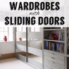 Wardrobes with sliding doors for easy access and space saving Sliding Wardrobe Doors, Sliding Doors, Fitted Wardrobe Design, Fitted Wardrobes, Easy Access, Storage Solutions, Space Saving, Bookcase, Shelves