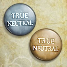d20 Fantasy Game Alignment True Neutral Pinback by BlindLeviathan, $2.50