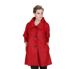 Visit Shop My Fair Lady for all of the Latest Damee NYC Styles! Browse through our Collection of Damee NYC Best Sellers, Jackets, Tunics & Twin Sets. Red Fashion, Stairways, Nyc, Enjoying Life, Stylish, Coat, Jackets, Collection, Design