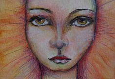 Sunfire Mixed Media ACEO Original by VividSpirit on Etsy