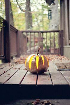 carved gold pumpkin