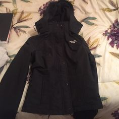 Hollister All-Weather Jacket Black Hollister Jackets & Coats Utility Jackets