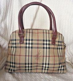 7c9acaf71bfe Authentic Vintage Burberry Doctor Bag Nova Check