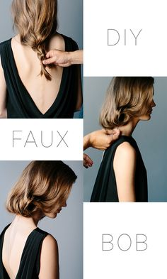 diy faux bob via oncewed.com