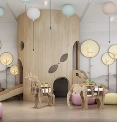 Beautiful Kids Furniture Design Ideas With Animal Shaped That You Must Try Playroom Design, Kids Room Design, Kids Furniture, Furniture Design, Bedroom Furniture, Furniture Online, Furniture Stores, Kindergarten Interior, Ideas Dormitorios