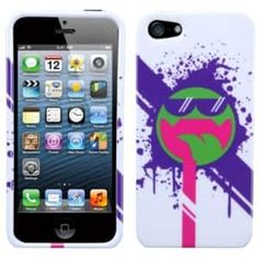 Insten Hipster Tripster/ All Smiles Phone Case Cover for Apple iPhone 5 / 5S / SE, #1291988