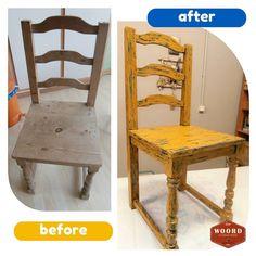 Μια παλιά καρέκλα μεταμορφώθηκε σε καινούρια.  #αναπαλαιωσηεπιπλων #παλαιωσηεπιπλων #woord_art Furniture Makeover, Dining Chairs, Painting, Home Decor, Decoration Home, Room Decor, Painting Art, Dining Chair, Paintings