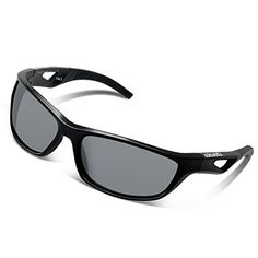Tsafrer Unisex Polarized Sports Sunglasses for Men and Women Cycling Driving Running Golf with Unbreakable Tr90 Frame