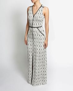 A.L.C. Jesse Printed Slit Maxi Dress | Shop IntermixOnline.com