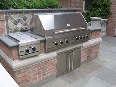 built in grills for outdoor kitchen | BBQ-Outdoor Kitchen-Built-In-Grill-Fireplace Design Ideas NJ