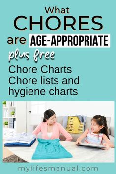 Age-appropriate chores teach kids personal responsibility, setting goals, achieving them and learning essential life skills that can definitely help them when they get older. In this post, you'll learn age-appropriate chores for kids and how to get kids to do chores. Chore List For Kids, Age Appropriate Chores For Kids, Good Work Ethic, Financial Budget, Household Chores, 13 Year Olds, Setting Goals, Life Skills, Getting Old