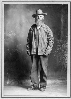 "3.16 Friday 13th, 1901: Uncle Josiah poses for a picture to go with his personals ad - ""Wife wanted, must have own tractor, a righteous rack and be able to cook grits. Include daguerreotype of tractor with application""."