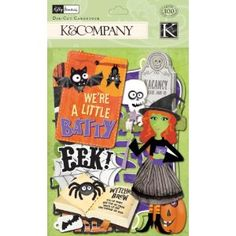 K&Company Kelly Panacci Halloween Icon Die-Cut Cardstock Halloween Icons, New Hobbies, Amazon Art, Sewing Stores, Die Cutting, Paper Design, Sewing Crafts, Embellishments, Card Stock