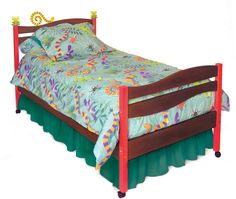 Little Lizard Twin Bed, Chocolate RM39-LLD by Room Magic