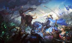 Knights: Battle of heroes by Grafit , via Behance