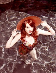 Emma Stone - my favorite current comedienne. Her talent is equal to Madeline Kahn and Gilda Radner.