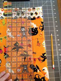 Trick or Treat Bag Tutorial Diy Halloween Trick Or Treat Bags, Halloween Bags, Halloween Crafts, Quilt Block Patterns, Pattern Blocks, Easy Quilts, Bag Making, Paper Dolls, Sewing Crafts