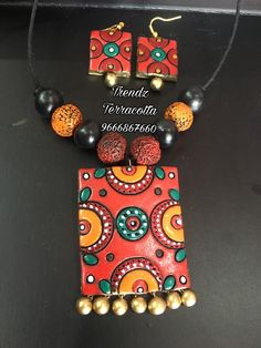 Diy jewelry Design of an apartment: space, color, style. Funky Jewelry, Fabric Jewelry, Diy Jewelry, Jewelery, Jewelry Making, Terracotta Jewellery Making, Terracotta Jewellery Designs, Polymer Clay Pendant, Polymer Clay Jewelry