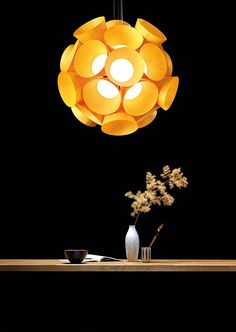 LZF Lamps | Dandelion, Suspension. LZF LAB | Wood touched by Light | Handmade Wood Lighting since 1994