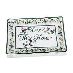 Pfaltzgraff Winterberry ''Bless This House'' Platter