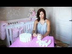 How To Make A Diaper Cake #videos #diy