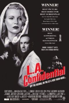 LA Confidential- James Elroy's Novel turned into a very good film Great Films, Good Movies, Love Movie, Movie Tv, La Confidential, Cinema Posters, Movie Posters, Guy Pearce, Best Screenplay