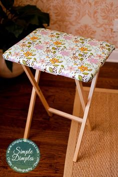TV tray Ironing Board Tutorial. Perfect next to the sewing machine.