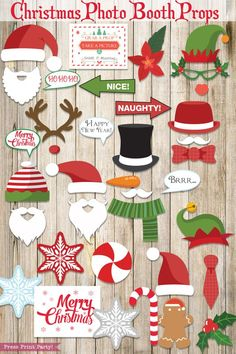 Print these fun Christmas photo booth props printables for loads of picture fun at your Christmas party. Editable sign included to share your party hashtag. Fun Christmas Photos, Christmas Photo Booth Props, Christmas Games For Adults, Adult Christmas Party, Merry Christmas Sign, Christmas Party Games, Christmas Crafts, Holiday, Funny Christmas