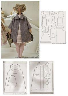 Tilda coat pattern