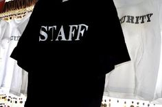 Adult Staff and child security shirts