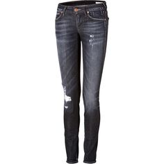 TRUE RELIGION Cotton Jeans in Bilston (1.835 ARS) ❤ liked on Polyvore featuring jeans, pants, bottoms, pantalones, calças, slim fit jeans, slim cut jeans, destruction jeans, ripped jeans and torn jeans