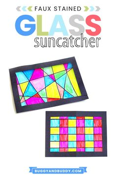 Create this colorful suncatcher in this fun craft and art project for kids of all ages. It can also be used to explore Geometry, making it a fun #STEAM project as well. These make beautiful window decorations in your home or classroom! #STEM #craftsforkids #Kidscrafts #craftsforteens #diy Fun Arts And Crafts, Summer Crafts For Kids, Easy Crafts For Kids, Arts And Crafts Projects, Art For Kids, Summer Art, Art Activities For Kids, Craft Projects For Kids, Preschool Activities