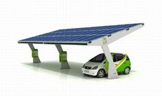 solar panel parking lot cover that generates energy for electric cars