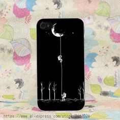 Space Moon Astronaut Hard Transparent iPhone Case for iPhone 7, 7 Plus, 8, 8 Plus, X