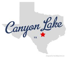 Map of Canyon Lake Texas TX Texas Hill Country, Country Life, Canyon Lake Texas, Free Maps, Stars At Night, Time Travel, Wall Collage, Vacation Ideas, Vacations