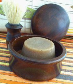 Man Beard Shaving Soap:  9.6 oz. palm oil  22.4 oz. coconut 76° or 92° oil  19.2 oz. olive oil  12.8 castor oil  1 oz grapefruit seed extract  2-3 ozs. essential oil      24.4 oz. goat milk (frozen-cold) (1#,8.4 ozs)  9.2 oz. lye     Additive: Vulcanus Color Clay or bentonite clay (1 cup)