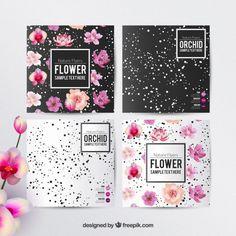 Flyers florales modèle