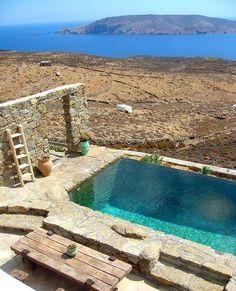 Small Swimming Pools, Small Pools, Swimming Pool Designs, Banco Exterior, Exterior Design, Pool Spa, Dream Pools, Beautiful Pools, Villa Design