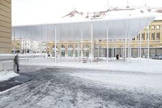 frundgallina. Reorganization of the train station square . La Chaux-de-Fonds (1)