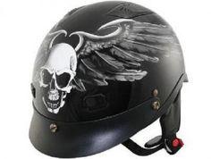 Skull  http://www.blackmotorcyclehelmets.com