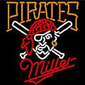Miller Pittsburgh Pirates MLB Neon Sign, Miller with MLB Neon Signs | Beer with Sports Signs. Makes a great gift. High impact, eye catching, real glass tube neon sign. In stock. Ships in 5 days or less. Brand New Indoor Neon Sign. Neon Tube thickness is 9MM. All Neon Signs have 1 year warranty and 0% breakage guarantee.