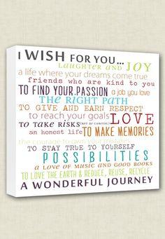 Wish+For+Child+Nursery+Canvas+Word+Wall+Art+by+GeezeesCustomCanvas,+$105.00
