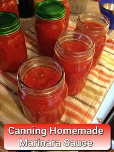 Canning Homemade Marinara Sauce – for your spaghetti, pasta, lasagna and more…… Canning Homemade Marinara Sauce – for your spaghetti, pasta, lasagna and more… Marinara Sauce Recipe For Canning, Fresh Tomato Marinara Sauce, Tomato Canning Recipes, Canning Homemade Spaghetti Sauce, Homemade Pickles, Homemade Sauce, Homemade Lasagna, Maranara Sauce Recipe, Canned Spaghetti Sauce