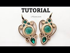 Tutorial Soutache, Soutache Pattern, Earring Tutorial, Bracelet Tutorial, Shibori, Soutache Bracelet, Soutache Jewelry, Arte Quilling, Polymer Clay Charms