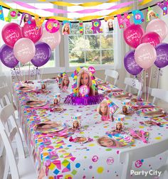 Her and her besties will love these Barbie birthday party ideas! Get all the fabulous Barbie accessories you need at Party City like favors, decorations, plates, napkins, and more.